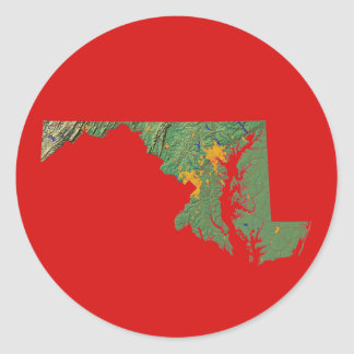 Maryland Map Sticker