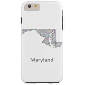 Maryland map tough iPhone 6 plus case