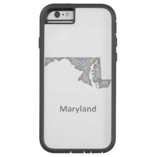Maryland map tough xtreme iPhone 6 case