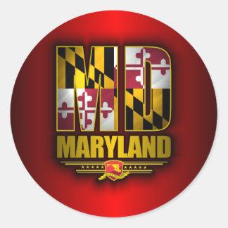 Maryland (MD) Classic Round Sticker
