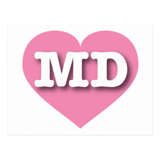 Maryland MD pink heart Postcard