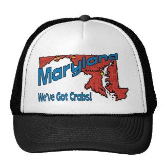 Maryland MD US Motto ~ We've Got Crabs Trucker Hats