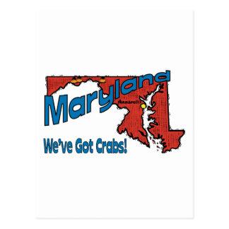Maryland MD US Motto ~ We've Got Crabs Postcards