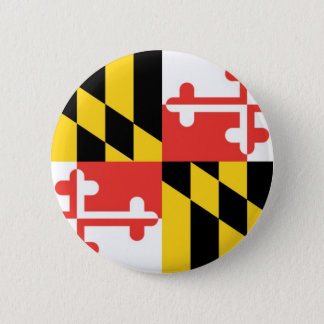 Maryland  Official State Flag 6 Cm Round Badge