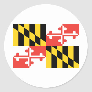 Maryland  Official State Flag Classic Round Sticker
