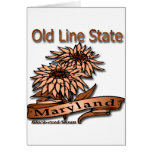 Maryland Old Line State Flowers Card