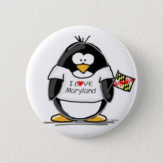 Maryland Penguin 6 Cm Round Badge