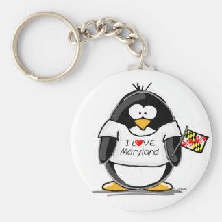 Maryland Penguin Key Ring