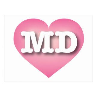 Maryland pink fade heart - Big Love Postcard