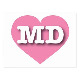 Maryland Pink Heart - Big Love Postcard