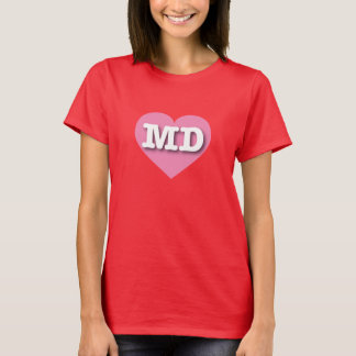 Maryland Pink Heart - Big Love T-Shirt