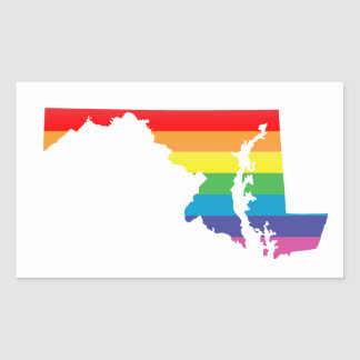 maryland pride rectangular sticker
