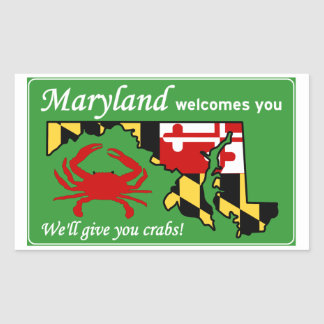 Maryland Rectangular Sticker