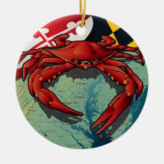 Maryland Red Crab by Joe Barsin Christmas Ornament