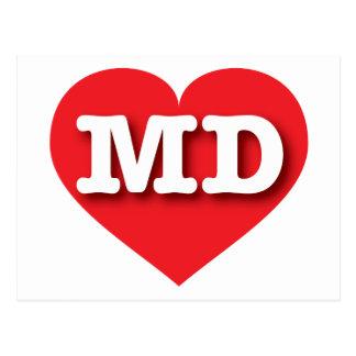 Maryland Red Heart - Big Love Postcard