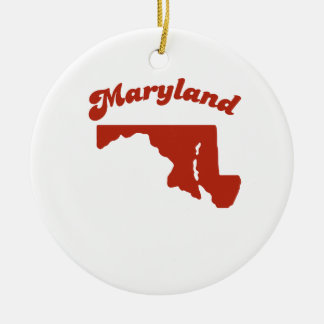 MARYLAND Red State Christmas Ornament