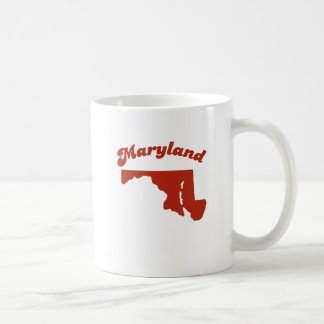 MARYLAND Red State Classic White Coffee Mug