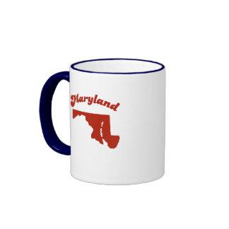 MARYLAND Red State Ringer Mug
