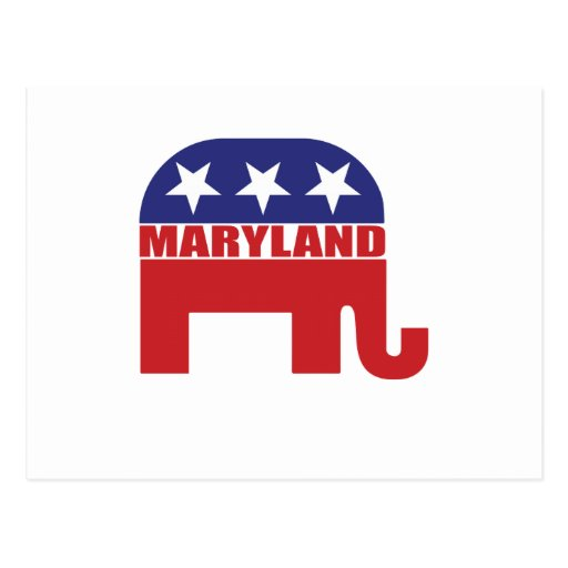 Maryland Republican Elephant Post Cards