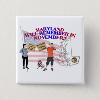 Maryland - Return Congress to the People! 15 Cm Square Badge