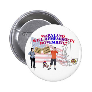 Maryland - Return Congress to the People! 6 Cm Round Badge