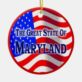 Maryland Round Ceramic Decoration