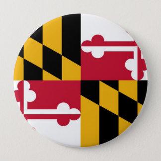 Maryland State Flag 10 Cm Round Badge