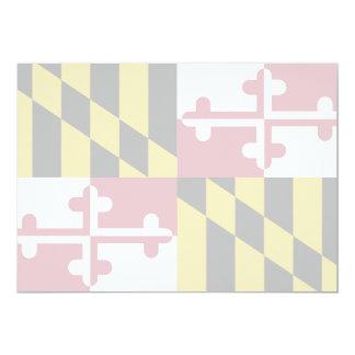 Maryland State Flag 13 Cm X 18 Cm Invitation Card