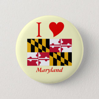 Maryland State Flag 6 Cm Round Badge