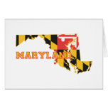 Maryland state Flag and Map Cards