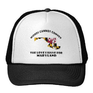 Maryland state flag and map designs cap