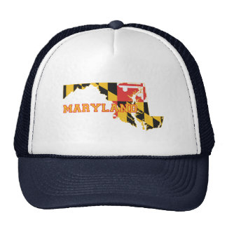 Maryland state Flag and Map Hats