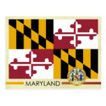 Maryland State Flag and Seal Postcard