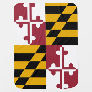 Maryland State Flag Baby Blanket