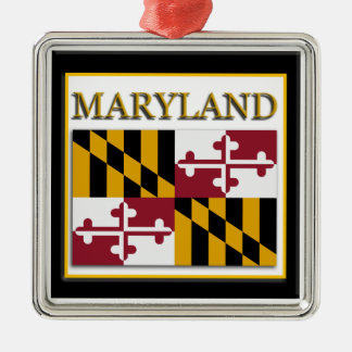 Maryland State Flag Christmas Ornament