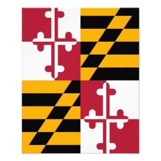 Maryland State Flag Colors Decor 11.5 Cm X 14 Cm Flyer