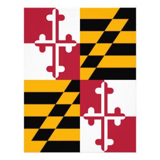 Maryland State Flag Colors Decor 21.5 Cm X 28 Cm Flyer