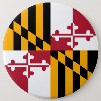 Maryland State Flag Design Decoration 6 Cm Round Badge