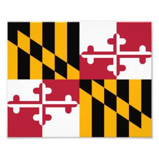 Maryland State Flag Design Decoration Photo Print