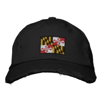 Maryland State Flag Design Embroidered Baseball Cap