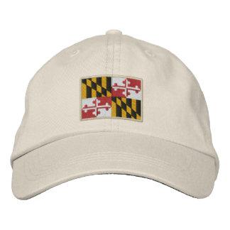 Maryland State Flag Design Embroidered Hat