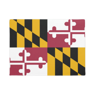 Maryland State Flag Door Matt Doormat