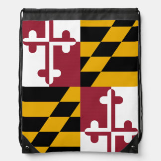 Maryland State Flag Drawstring Bag
