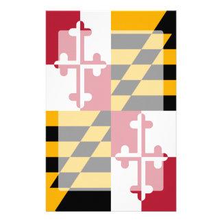 Maryland State Flag Graphic Customized Stationery
