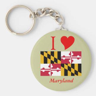 Maryland State Flag Key Ring