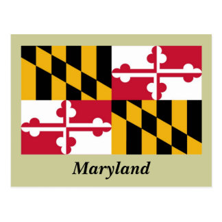 Maryland State Flag Postcard