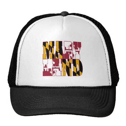 Maryland state flag text hats