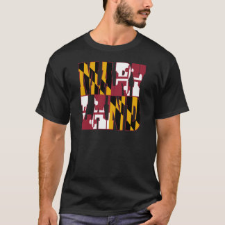 Maryland state flag text T-Shirt