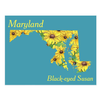 Maryland State Flower Collage Map Postcard