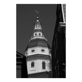 Maryland State House-Annapolis Mary Poster